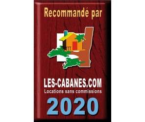 """Plaque déco métal """"recommandé par"""" Les Cabanes 2020"""